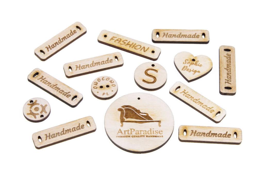 emblematy drewniane z Twoim logo